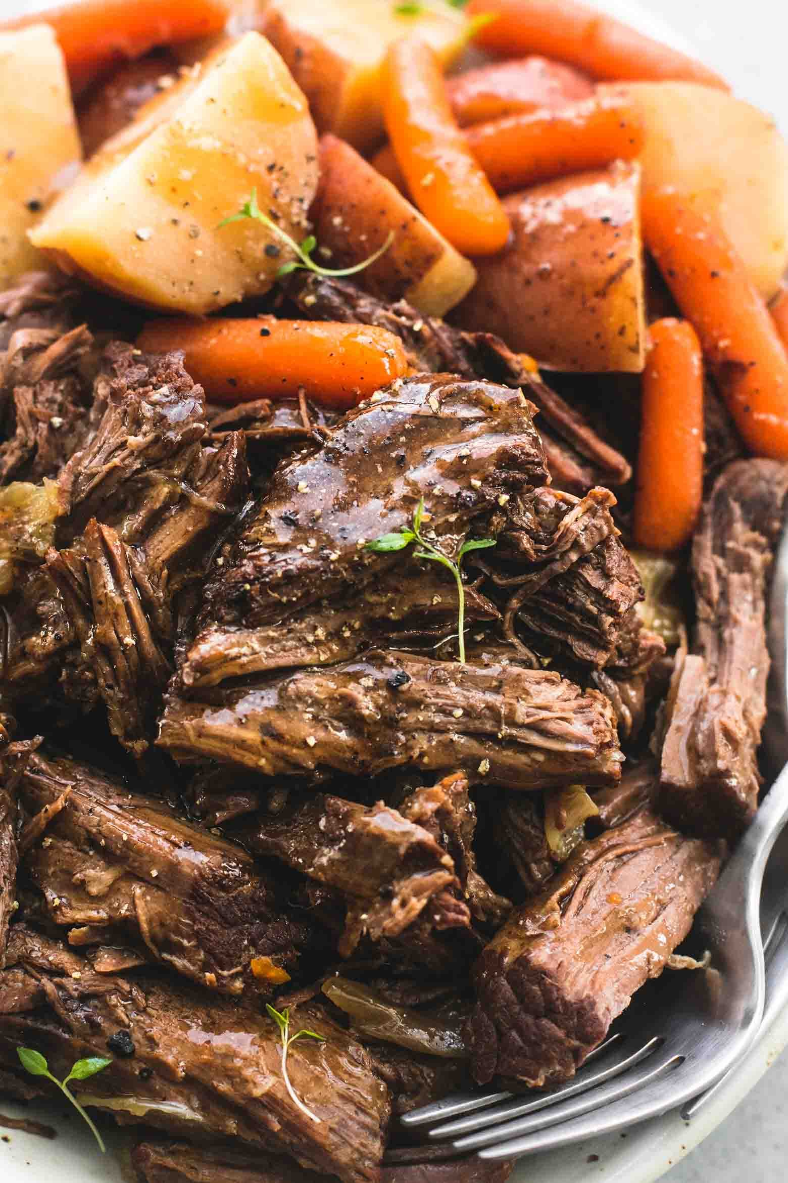 Instant Pot Pot Roast and Potatoes - TheDirtyGyro
