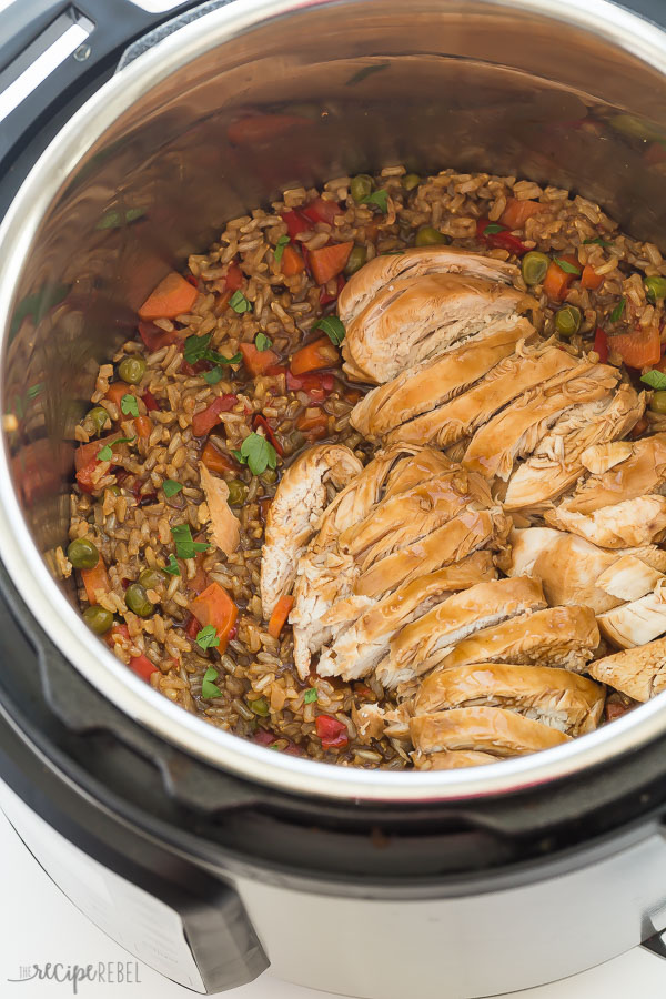 Instant Pot Teriyaki Chicken And Rice Recipe Pressure Cooker Thedirtygyro