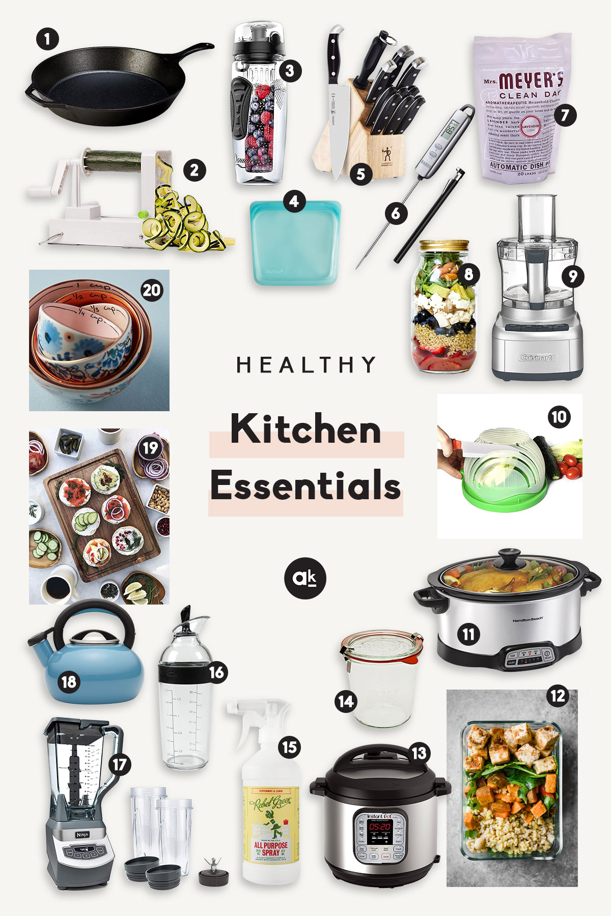 The Ultimate List Of Healthy Kitchen Essentials Thedirtygyro