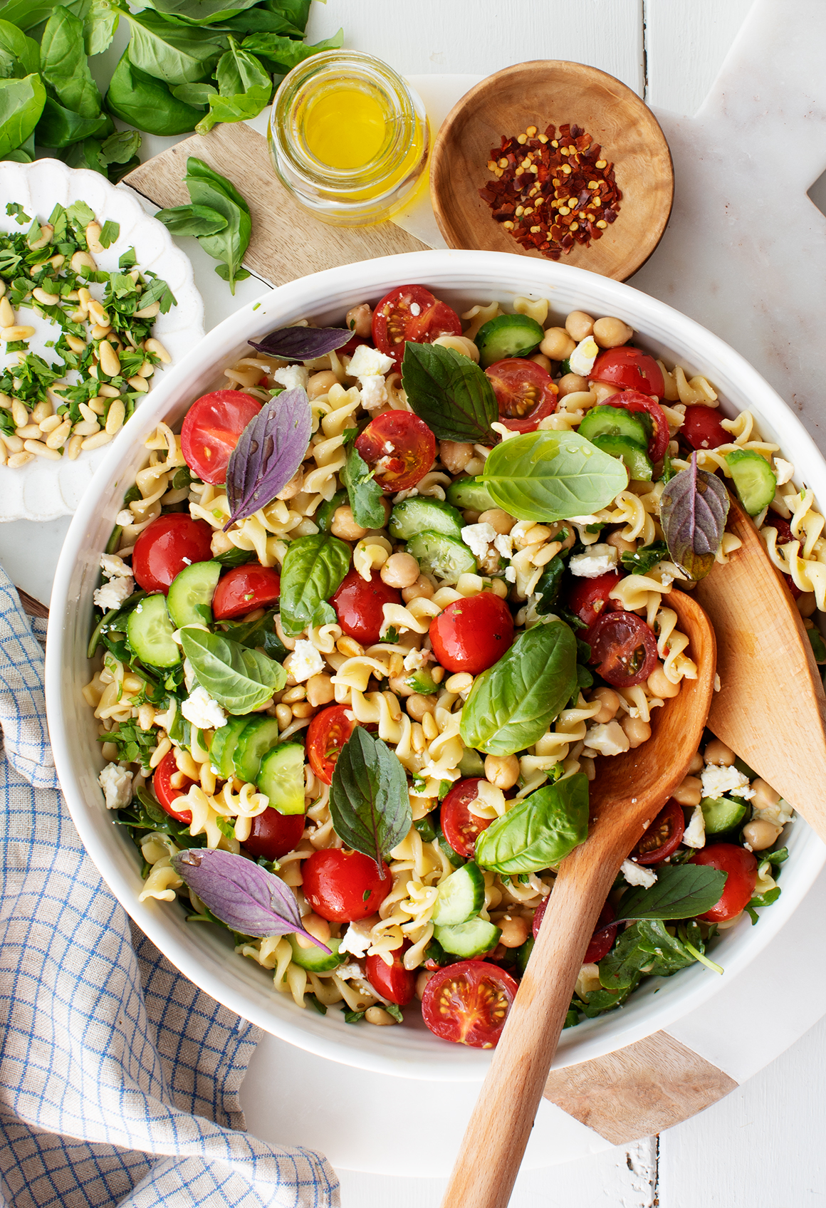 Mediterranean Pasta Salad Recipe Love And Lemons